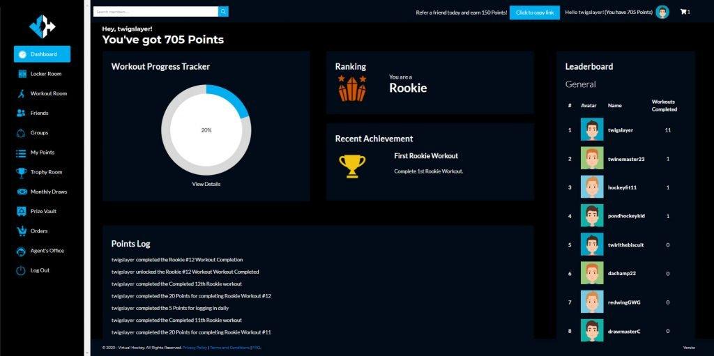 Virtual Hockey Dashboard View